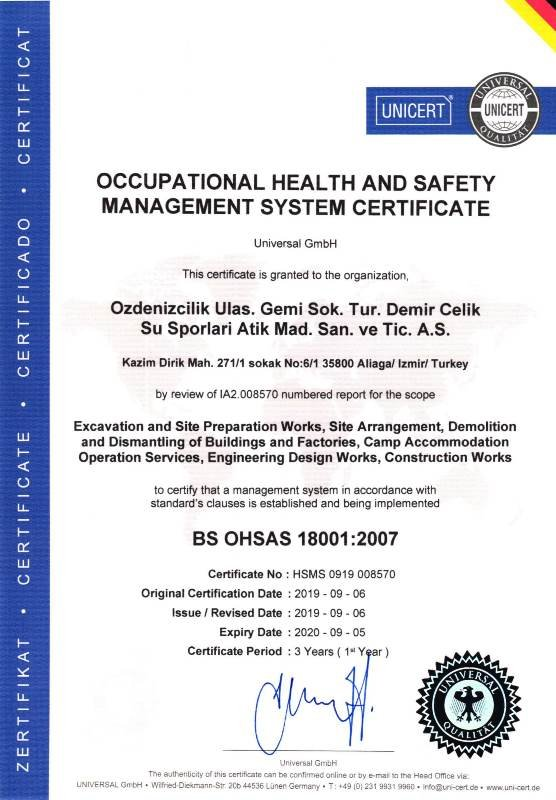 18001 - 2007 OHSAS EN