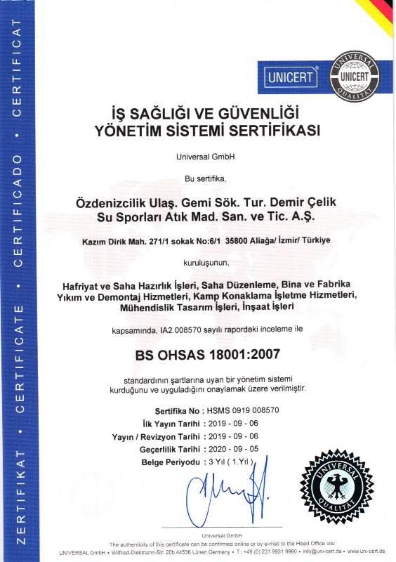 18001 - 2007 OHSAS TR